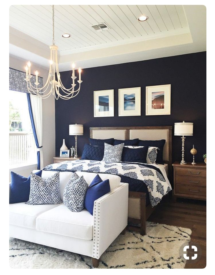 Love The Navy Blue Feature Walk And Shiplap Ceiling In This