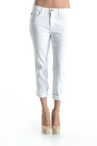The Boyfriend Jean in White