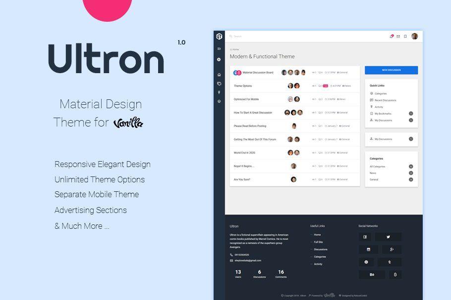 Ultron Customizable Vanilla Theme ,
