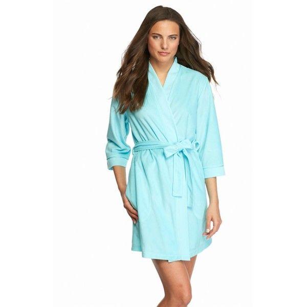 Kim Rogers Ocean Aqua Kimono Terry Textured Trim Robe - Women\'s ($12 ...