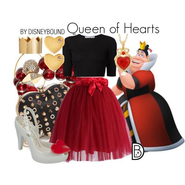 disney bound  queen of hearts  disney dresses disney