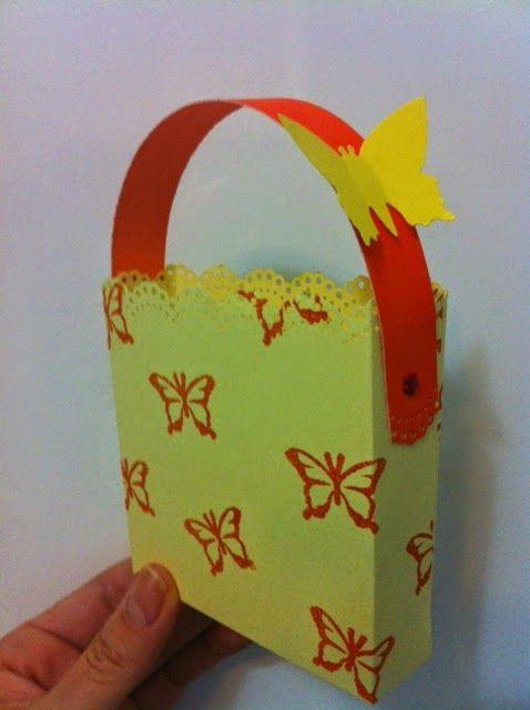 A paper treat box tutorial.