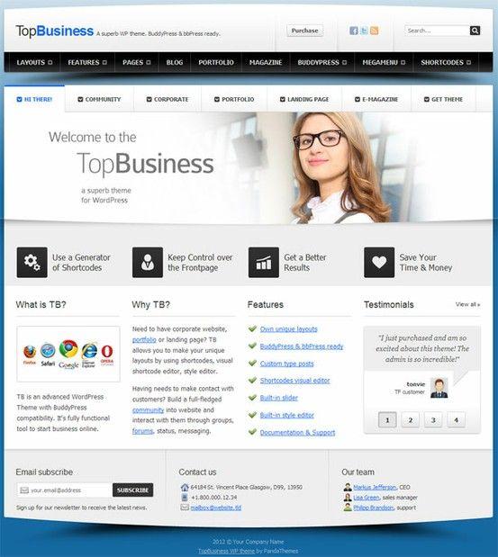 Multipurpose premium business wordpress theme from panda themes multipurpose premium business wordpress theme from panda themes wordpress business themes accmission Images