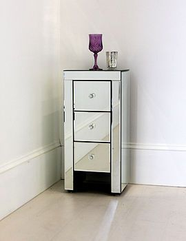 Narrow Mirrored Bedside Table Bedside Table Design Narrow