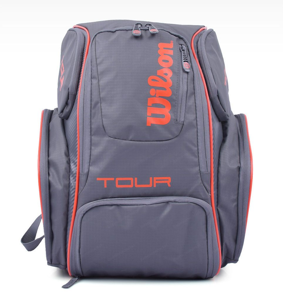 Wilson Tour V Backpack Medium Tennis Badminton Bag Racquet Gray Nwt Wrz 841796 Wilson Tennis Backpack Backpacks Badminton Bag