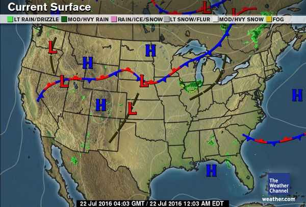 Current US Surface Weather Map | Weather | Weather, The weather