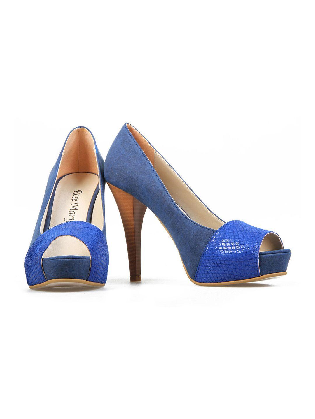 18bd66e9b حذاء كعب عالي بمقدمة مفتوحة من الأمام، وباللون النيلي على موقع سكر للتسوق  الإلكتروني. www.sukar.com