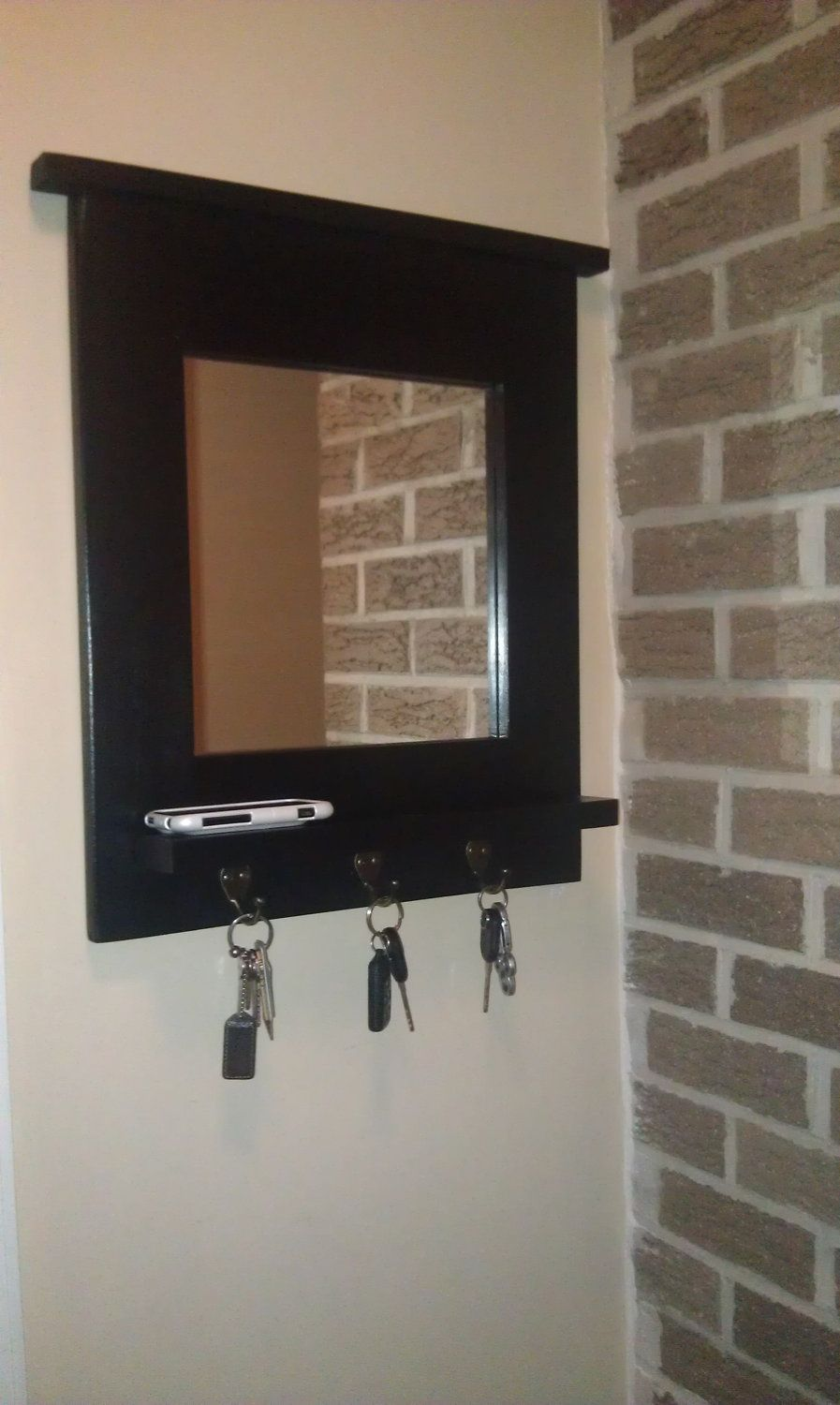 Easy entryway mirror with hooks hallway decorating ideas home wall mirror with hooks simple wall decor ideas amipublicfo Images