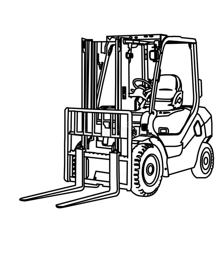 Image Result For Forklift Colouring