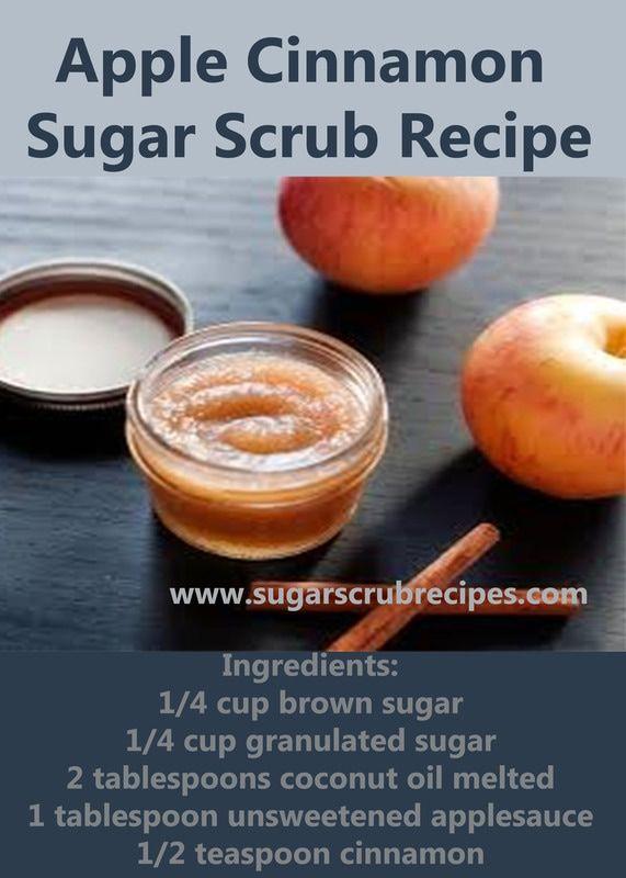 Apple Cinnamon  Sugar Scrub Recipe-Sugar Scrub Recipes