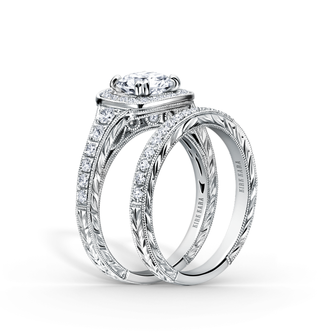 This Elegant Design Is A Halo Engagement Ring From The Carmella Collection
