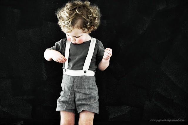Kids wearing suspenders