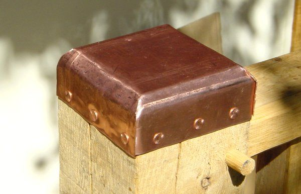Use Our Copper Sheeting To Create Copper Post Caps Like