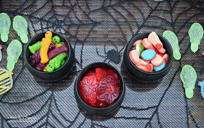 Teen Halloween Party Ideas gummy snacks Made by a Princess - halloween party ideas for teenagers