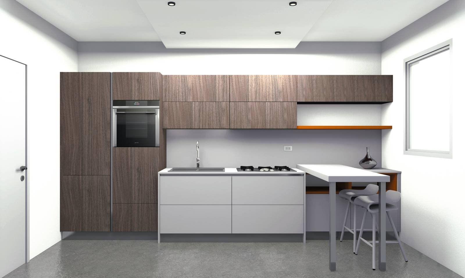 4 progetti cucina per 10 mq circa nel 2019 | Arredamento ...