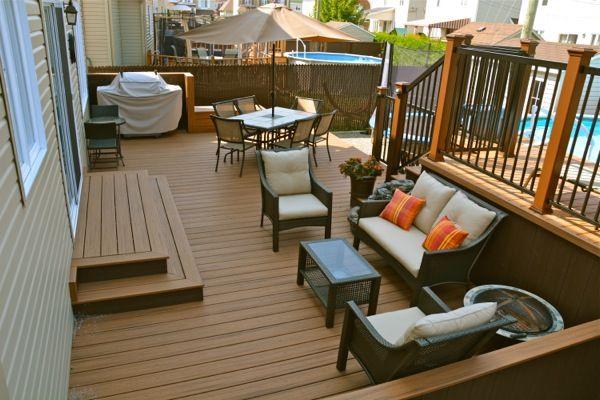 patio plus patio de piscine maison pinterest belle terrasses et bancs de terrasse. Black Bedroom Furniture Sets. Home Design Ideas