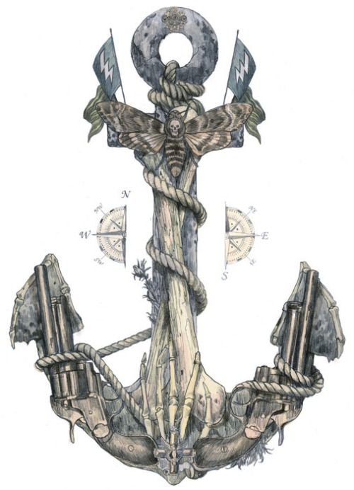 anchor artwork | Tumblr | Tattoo Ideas | Anchor art, Watercolor ...