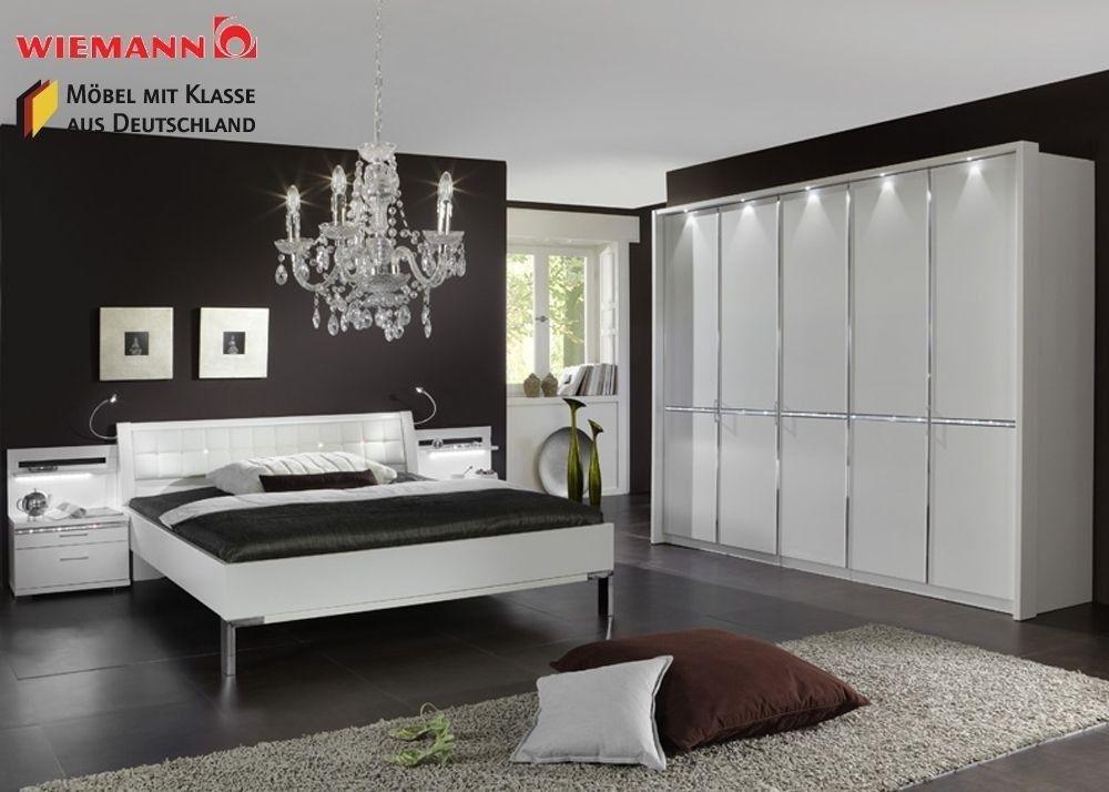 Schlafzimmer komplett Holz Weiß Kristall Neu 3768. Buy now at ...
