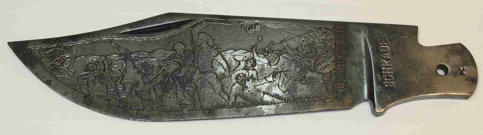 Vintage SCHRADE  Etched BLADE ONLY for CUSTER'S LAST FIGHT Folding KNIFE  https://t.co/acQYbOxX6r https://t.co/NgNCIhaTMQ