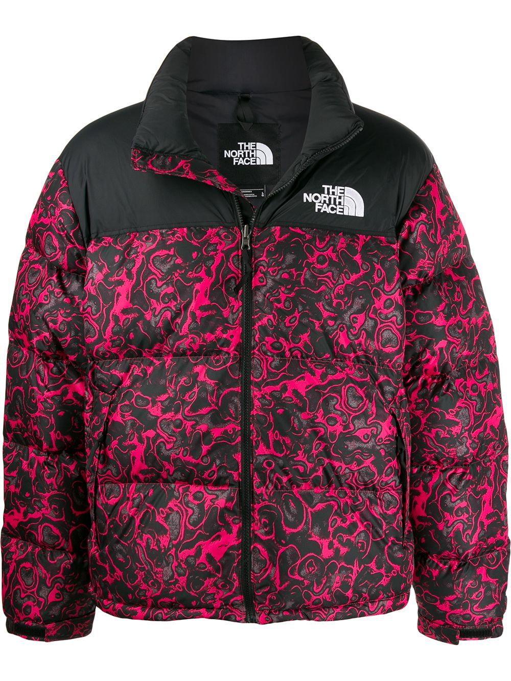 The North Face Graphic Puffer Jacket Farfetch North Face Puffer Jacket North Face Jacket The North Face [ 1334 x 1000 Pixel ]
