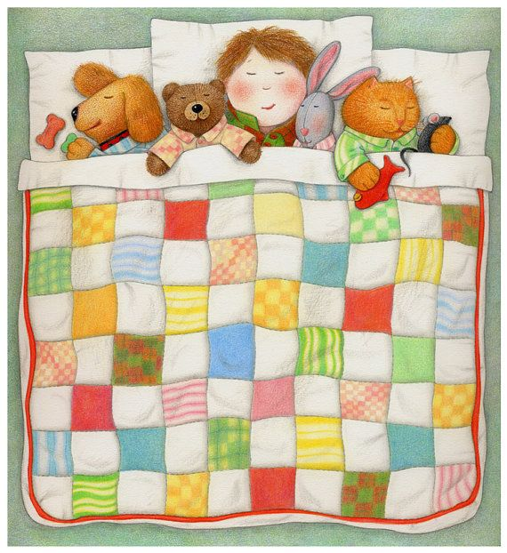 Cozy Quilt / PRINT / Colored Pencil Drawing / от ...Quilt Drawing