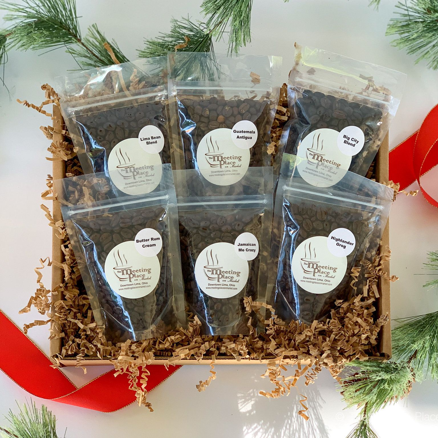Gourmet Coffee Sampler Holiday Gift Basket 6 Gourmet Coffees Etsy In 2020 Holiday Gift Baskets Coffee Lover Gifts Basket Coffee Gift Sets