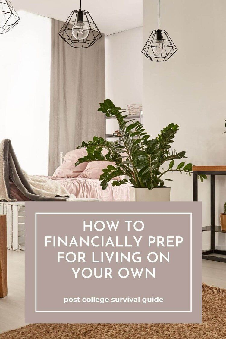 Figuring out how much it's going to cost to live on your own can vary from person to person. However, there are a few expenses you should definitely financially prepare for if you're going to live on your own.  Post College Survival Guide  #livingonyourown #movingout #adulting