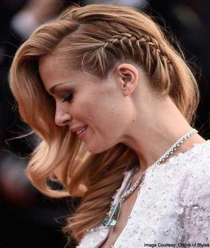 One Sided Braid Hairstyle H Side Braid Hairstyles Hair Styles Side Swept Hairstyles