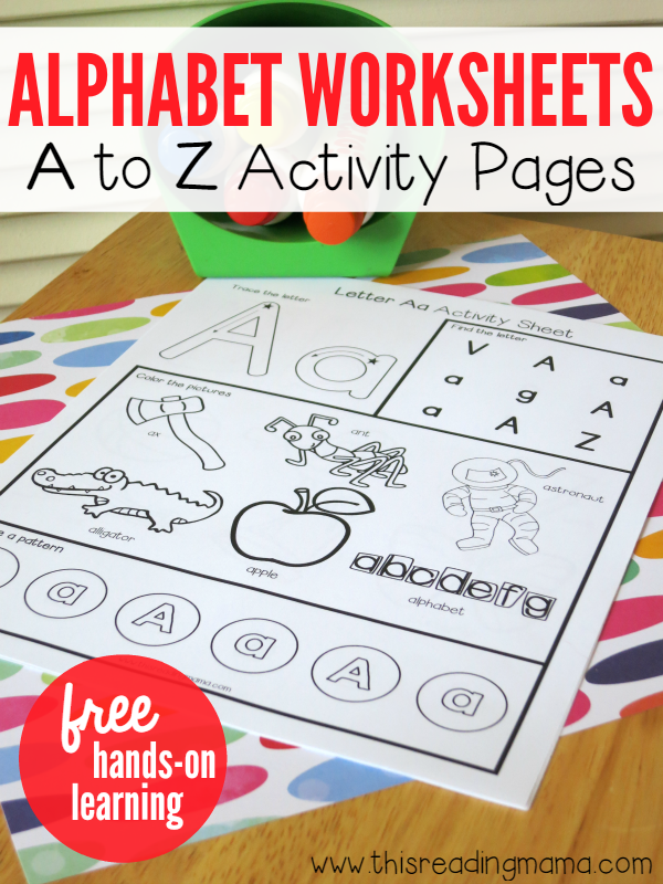 Alphabet Worksheets - Activity Pages from A to Z | Kind, Buchstaben ...