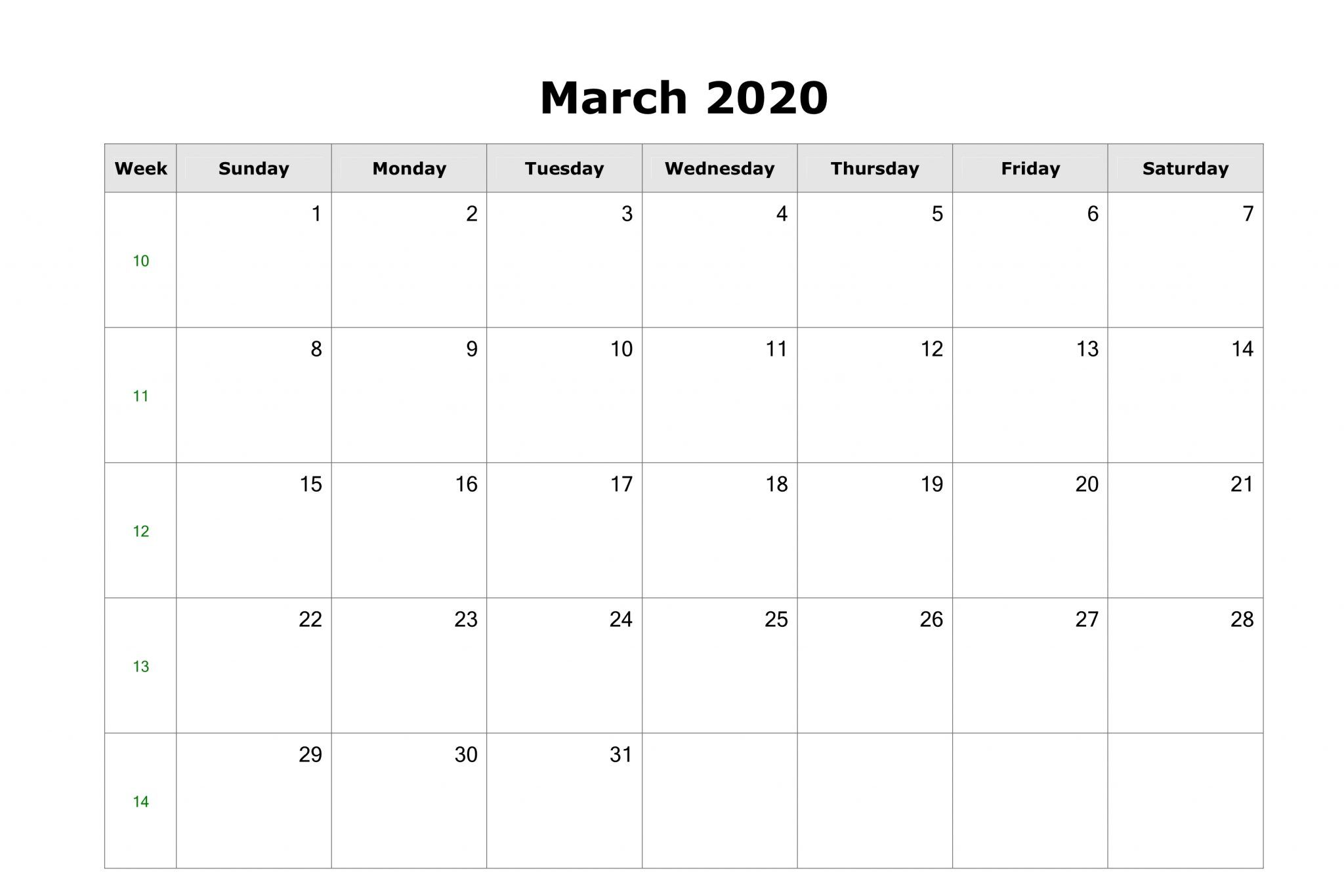 March 2020 Calendar With Holidays Us Uk Canada Australia India