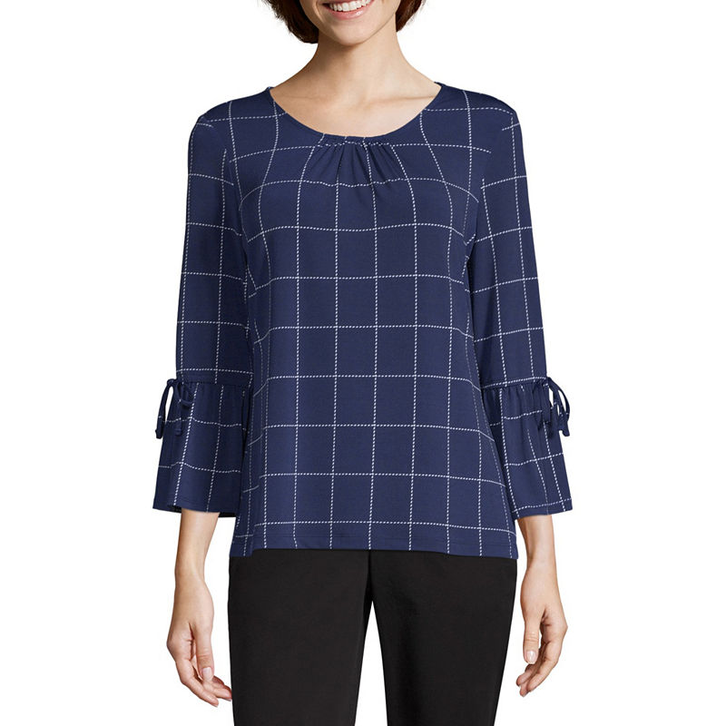 c41d3dfcfe6 Liz Claiborne 3/4 Detail Sleeve Packable Top - Tall in 2019 ...