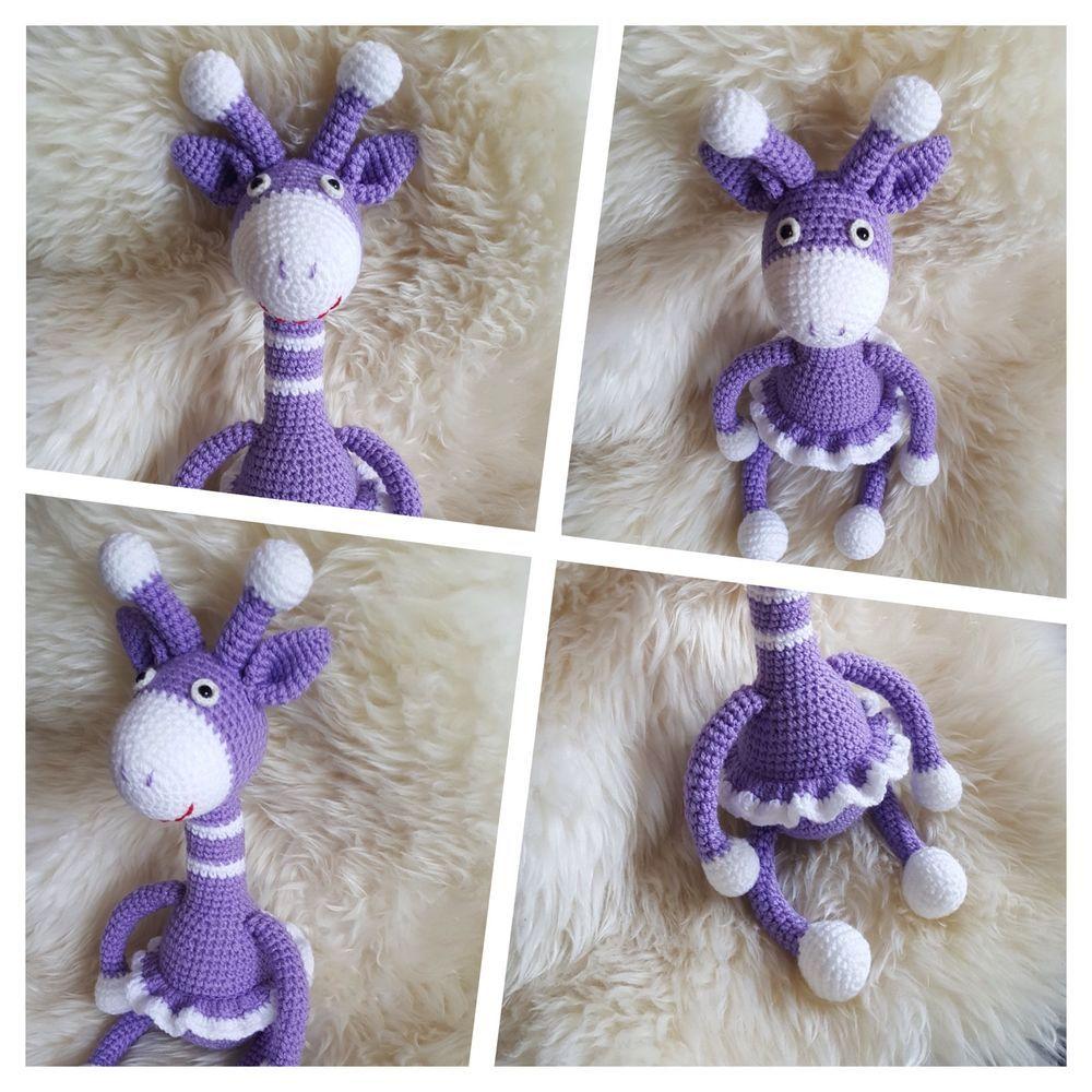 Spielzeug Kuscheltier Giraffe Amigurumi Toy Häkeltier Handarbeit ...