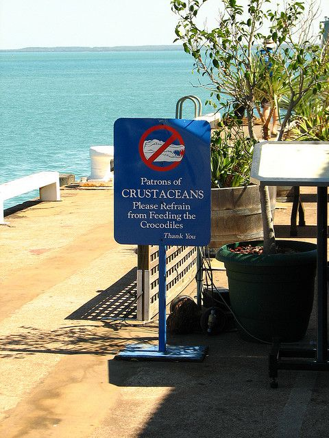 Typical warning sign in the top end