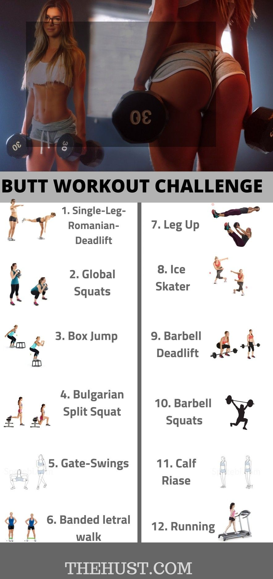 Top 10 best exercises for a sexy big butt