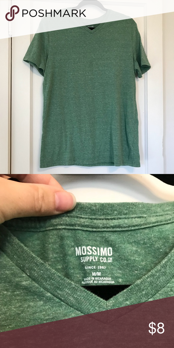 Mossimo Super Soft Tee Extra Soft Comfortable Tee Heathered Green