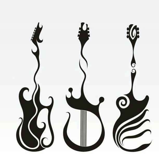 tribal guitar tattoo designs wwwpixsharkcom images
