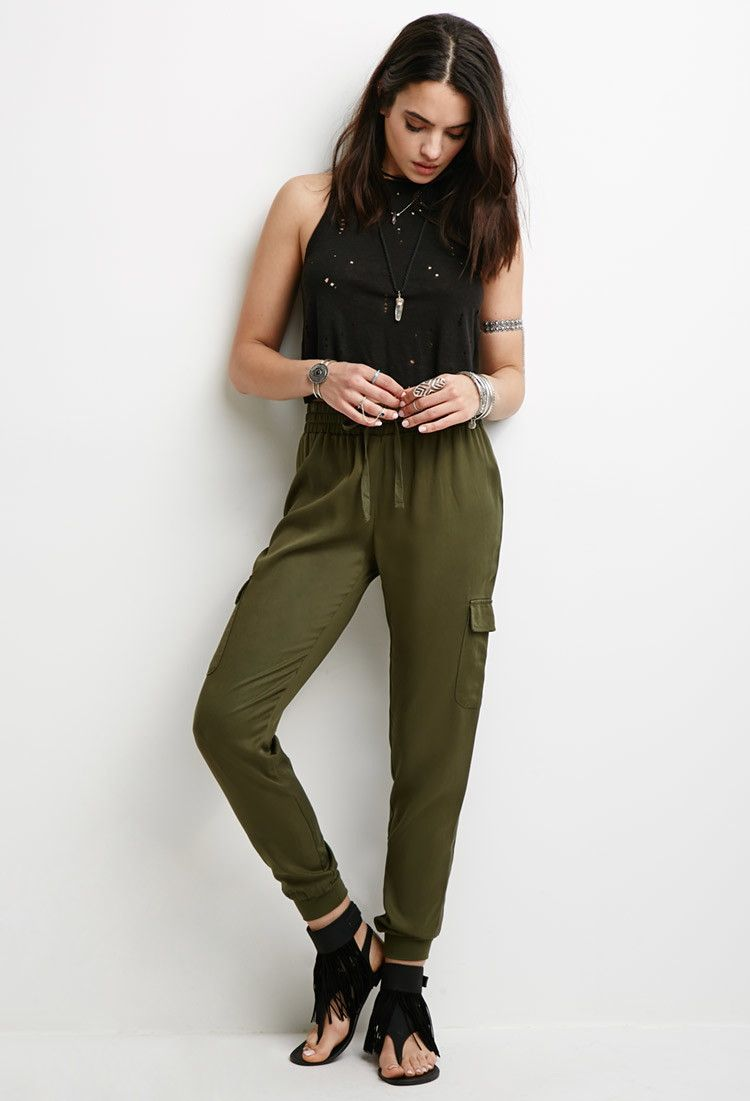 Twill-Woven Cargo Joggers | Forever 21 - 2000098560