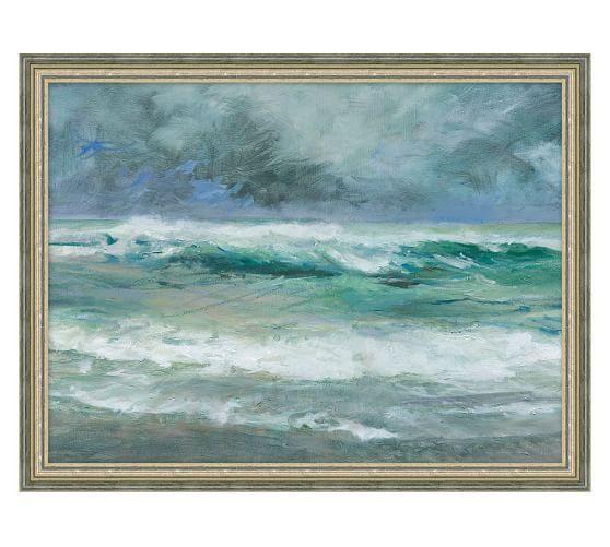 Irene Waves Framed Print By Marilyn Muller Beach Canvas Wall Art
