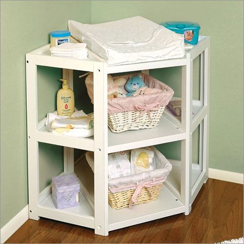 A Corner Diaper Changing Table