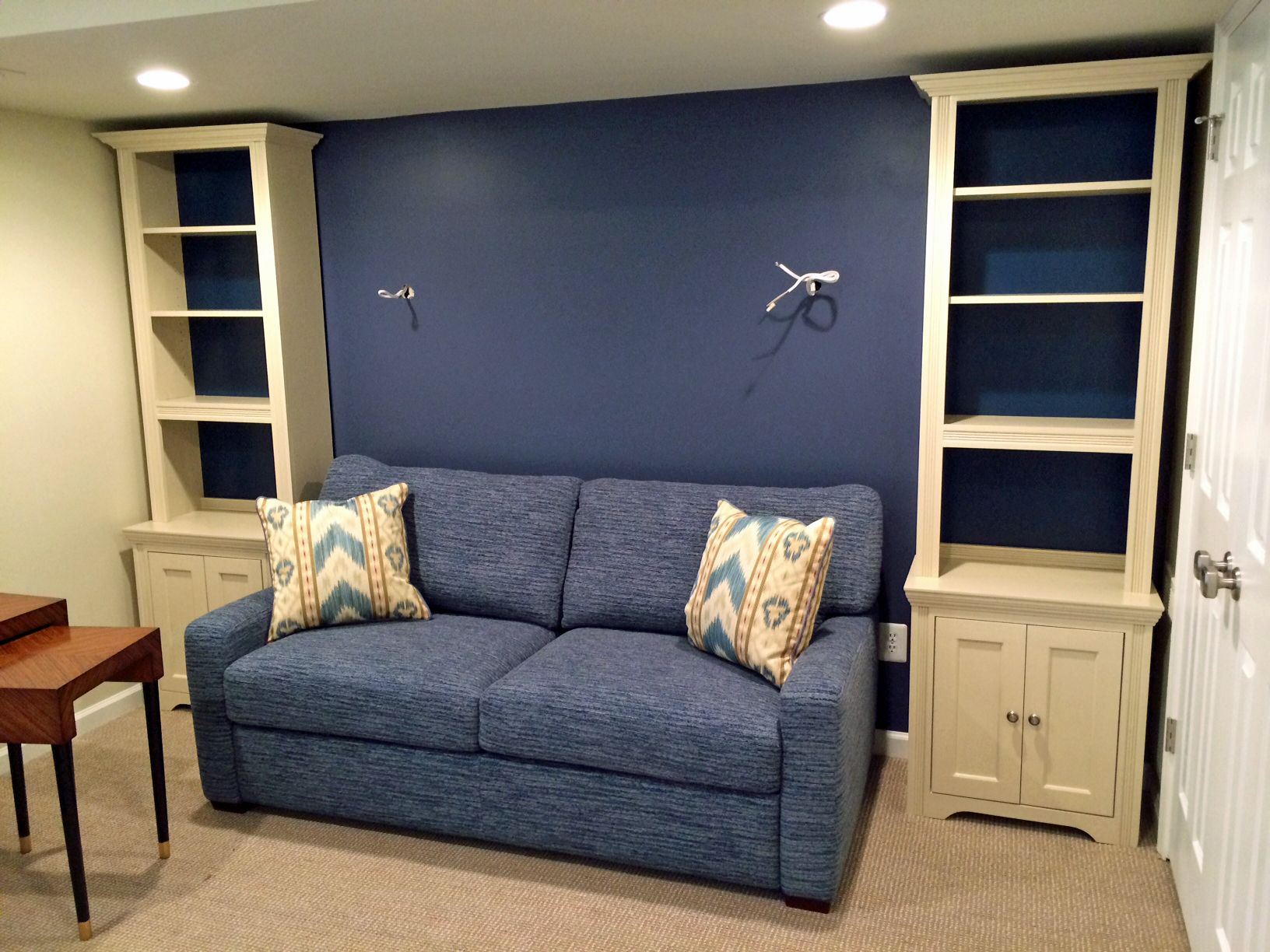 Inwood Furniture Maple units painted with General Finishes Linen