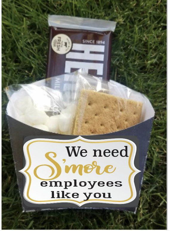 Employee staff office client appreciation Smores gift bag toppers | company picnic favors boxes | bu #employeeappreciationideas