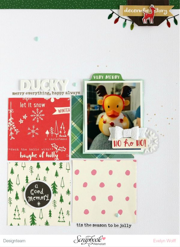 Ducky | Scrapbooking Layout | Dezember-Kit der Scrapbook Werkstatt