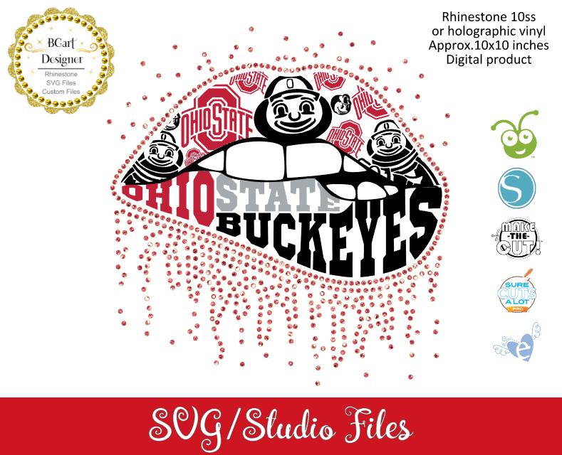 lllᐅOhio state buckeyes lips - Bgartdesigner: Cricut and silhouette designs