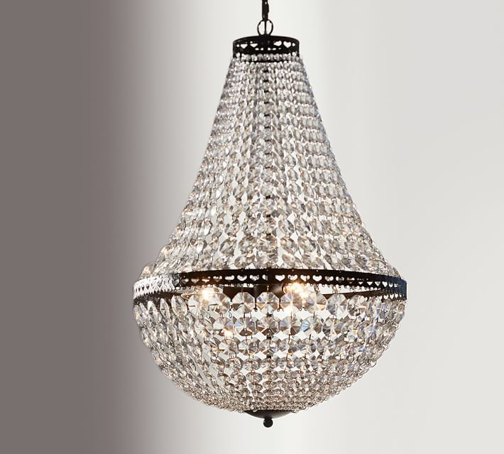 Mia Faceted Crystal Chandelier With Images Pottery