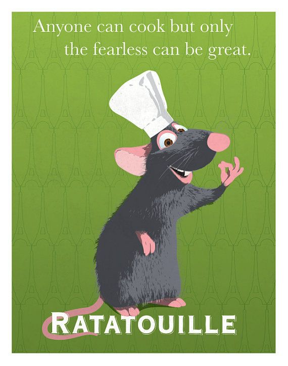 8x10 Ratatouille Remy Pixar Print, Graphic Quote Wall Art