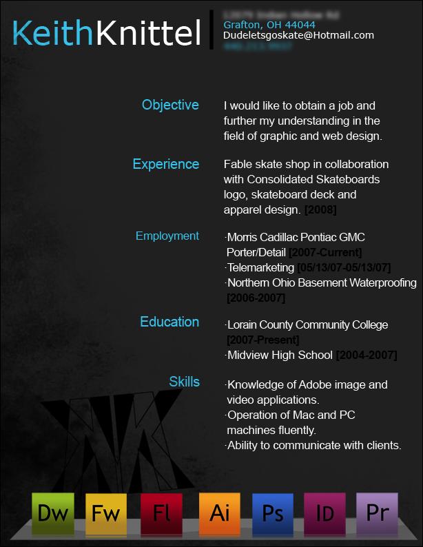 Resume By Dudeletsgoskate Deviantart Com On Deviantart Curriculum Vitae