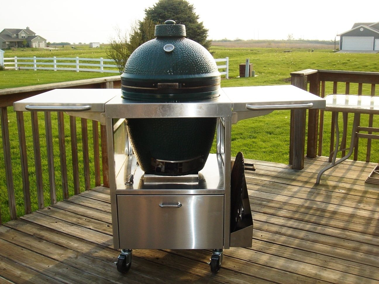 Stainless Steel Cart Table For Big Green Egg Or Kamado | EBay