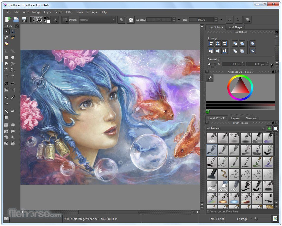 Krita 2 9 9 32 Bit Download For Windows Filehorse Com Free Graphic Design Software Graphic Design Software Free Graphic Design
