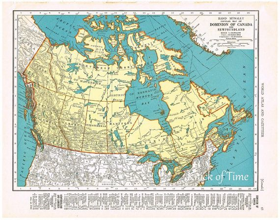 Buy Map Of Canada.1939 Antique Map Canada Maritime Provinces By Knickoftime