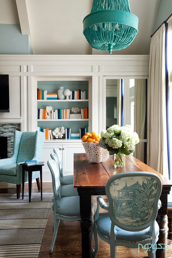 turquoise-chandelier-over-dining-table.jpg (562×843 ...